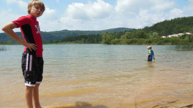 The lake at Arques was an unspoilt spot for swimming.