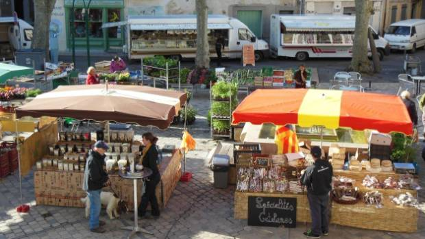 The Wednesday Quillan produce market.