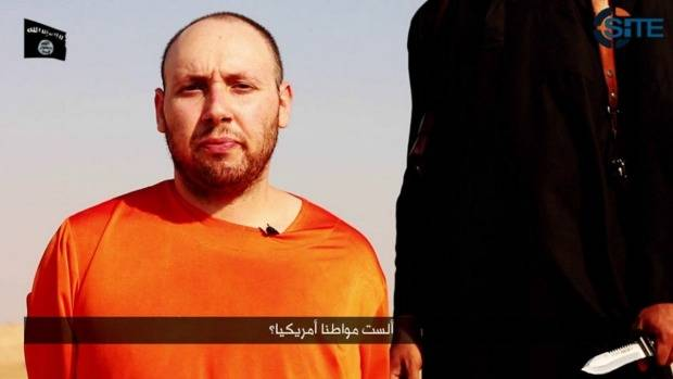US journalist Steven Sotloff before he was executed by Islamic State jihadists.