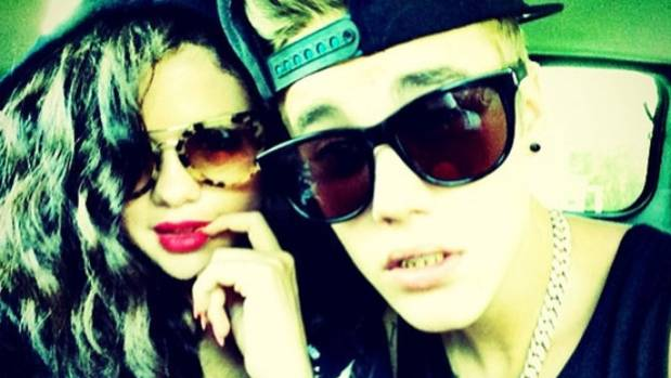 Justin and Selena during happier times.