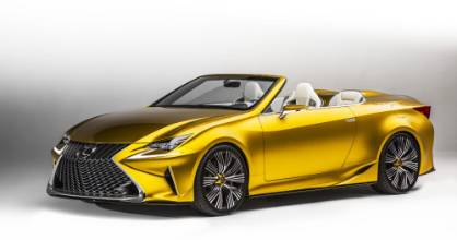 A convertible with a twist: the LF-C2 has no top covering the cabin.