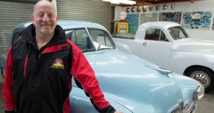HOLDEN HUNTER: Holden fan Dave Young has helped provide vital information in finding the company's first NZ owner.