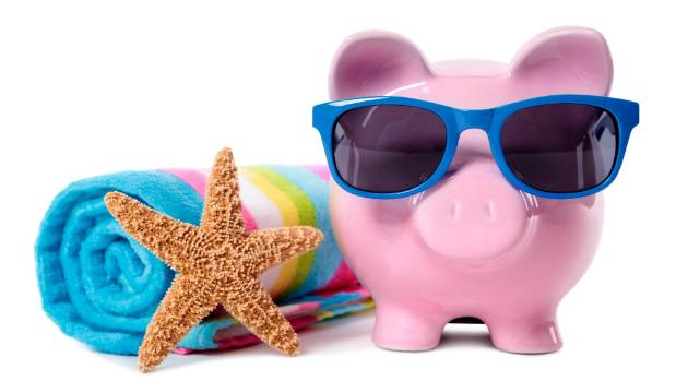 Let the piggy bank take you on holiday.