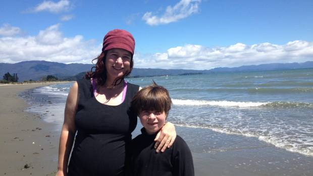 KNOWLEDGE WAVE: Takaka mother Charlotte Squire and her son, Kahu Marsh.