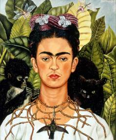 Self-portrait by Mexican painter Frida Kahlo