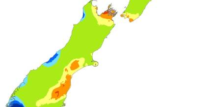 Niwa drought index map