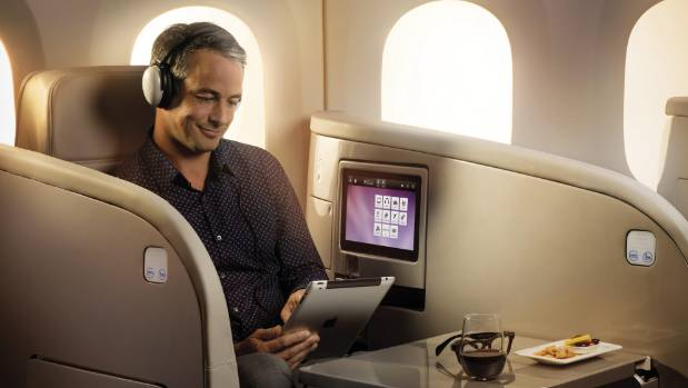 Air New Zealand business class.