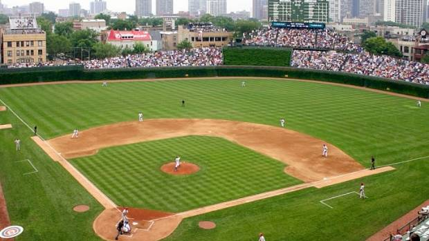 Wrigley Field: Home of the Chicago Cubs.