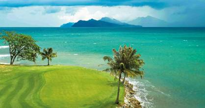 The 7th hole at The Els Club in Langkawi.