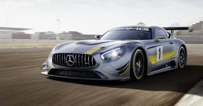 The Mercedes-AMG GT3 racing car.