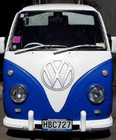 The petite van underwent the retro transformation with the assistance of a VW conversion kit.