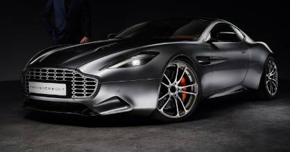 "Henrik Fisker and his design study on the Aston Martin Vanquish called the ""Thunderbolt""."