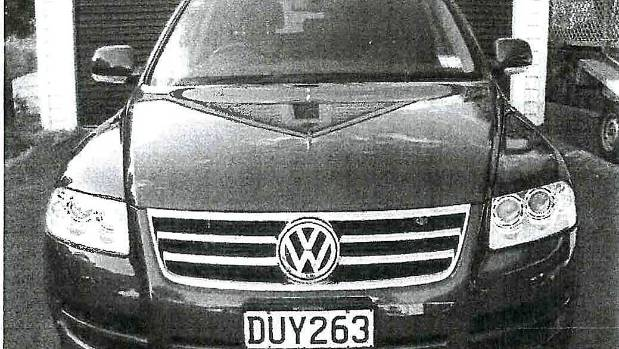 Police were able to confirm the car found in the sea was Beckenridge's dark-blue Volkswagen.