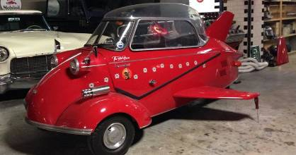 Dave Blackmore's Messerschmitt KR200 bubble car is for sale on Trade Me.