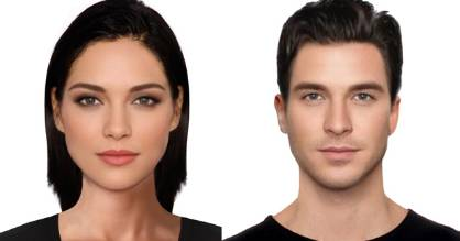 A study of 200 people's perceptions of beauty came to the conclusion that these are the most beautiful faces in the UK. (From the woman we're getting real Kendall Jenner-meets-Adrianne Palicki vibes. And the guy looks like a baby-faced Dylan McDermott).