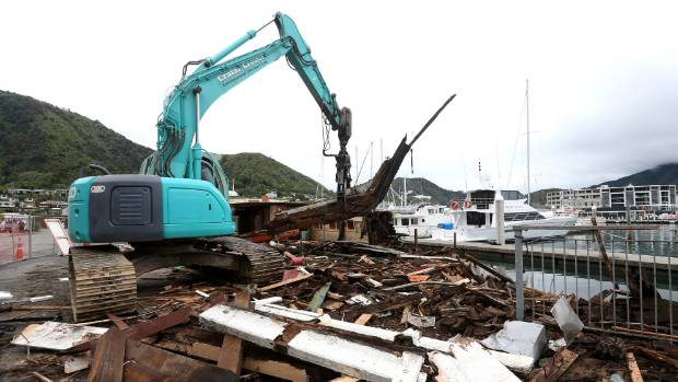The Echo being demolished in Picton marina.
