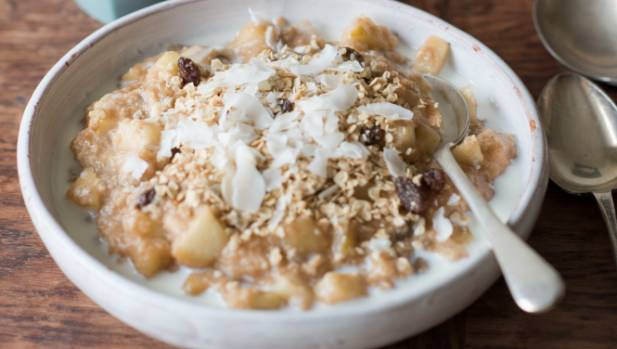 Apple porridge is the perfect cereal fruit combo.