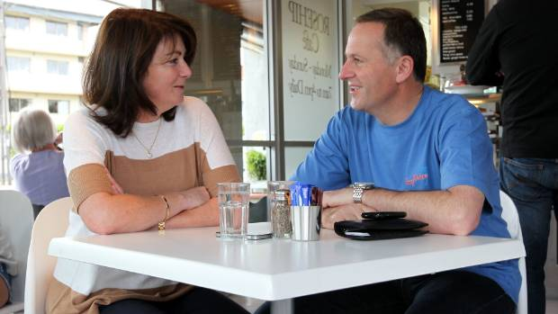 John Key and wife Bronagh have a coffee at Rosehip, now Rosie cafe, the morning after the 2011 election.