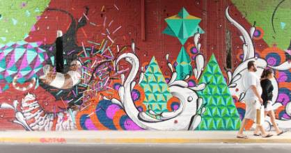A collaboration between Highraff and Roma under a bridge in Palermo, Buenos Aires.