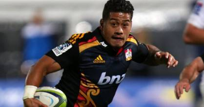 Halfback Augustine Pulu of the Chiefs dotted down twice in Rotorua.