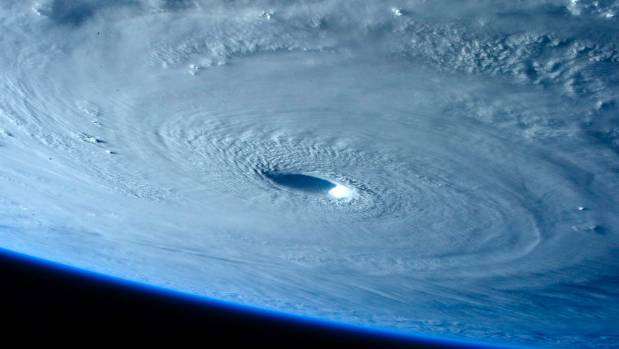 Typhoon Maysak as it strengthened into a Category 5 hurricane in March 2015.