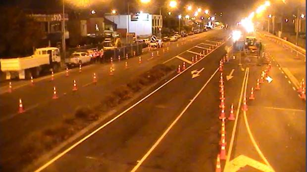 A new road works project has closed an eastbound lane on Moorhouse Ave, near the intersection with Fitzgerald Ave.