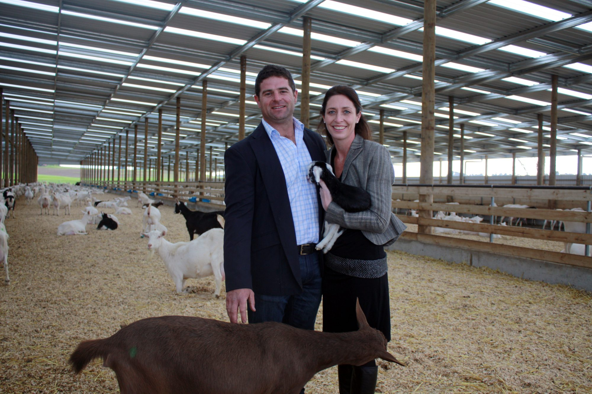 Matthew and Sarah Bolton and established the goat milking venture Oete Farms and formed a supply partnership with New Image Group Nutritionals who will process the milk into infant formula for the Asian market.