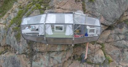 Get a view to thrill from one of the three transparent pods hanging off a cliff face.
