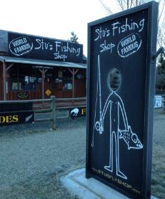 Stu's Fishing Shop at Athol.