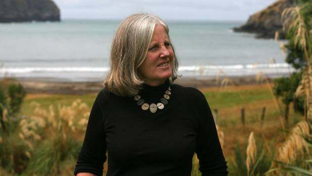 Fiona Farrell in pre-quake days. She says it is impossible to avoid politics when writing about the Christchurch rebuild.