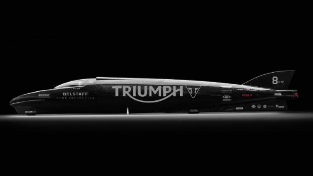 The 2015 Triumph Rocket III Streamliner.
