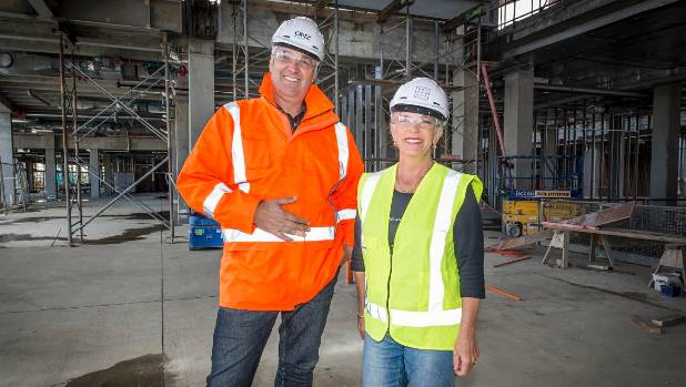 DNZ Property Fund chief executive Peter Alexander and Deputy Mayor Penny Hulse are looking forward to the NorthWest Shopping Centre development becoming a booming hub.