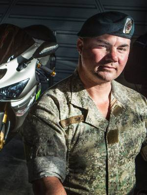 Private Dion Taka  – critically injured during the Battle of Baghak – has organised a ride of remembrance to honour those who died.