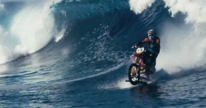 Robbie Maddison surfs on his motorbike in his new video - Pipe Dreams.