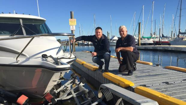 Paul Symes (left) and Lex Bacon of Tauranga company Balex Marine.