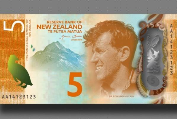 NZ's new $5 note.
