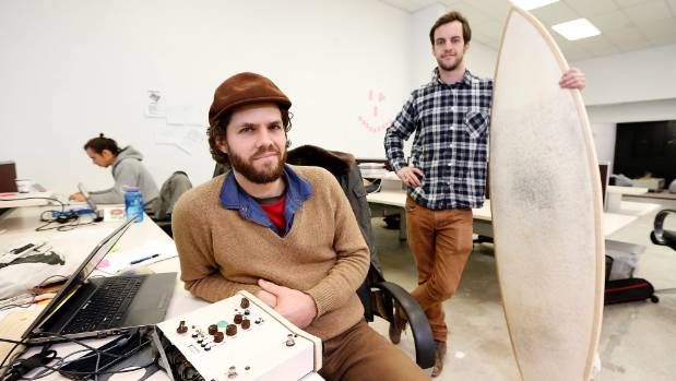 Dogmatek audio owner Tim Prebble, left, and Jack Candlish from Organic Dynamic.