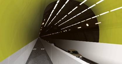 "A green, black and white paint job is expected to create a ""fresh, appealing and calming"" driving experience in Wellington's Mt Victoria Tunnel."