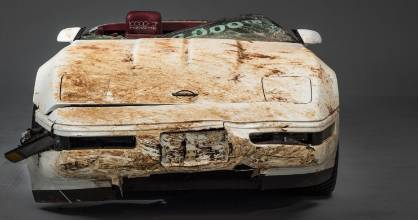 The one millionth Corvette damaged in a sinkhole collapse.