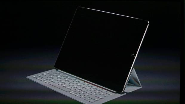 An iPad Pro with a keyboard.