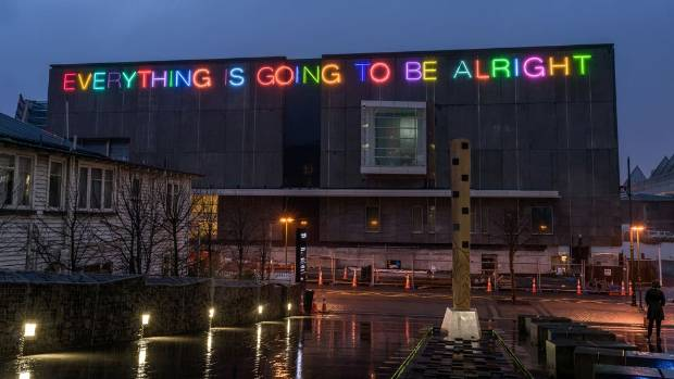 British artist Martin Creed has used the same phrase in a number of neon artworks in cities like New York, Rome and Detroit.
