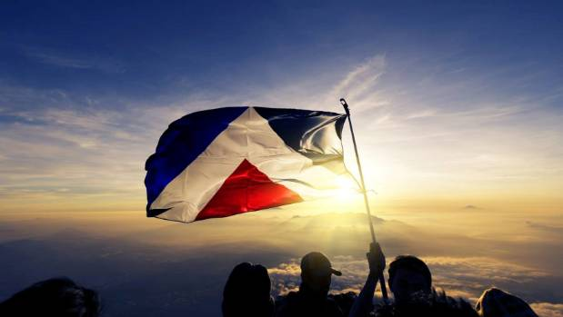 The Red Peak flag, designed by Aaron Dustin, was often dubbed as the people's favourite.