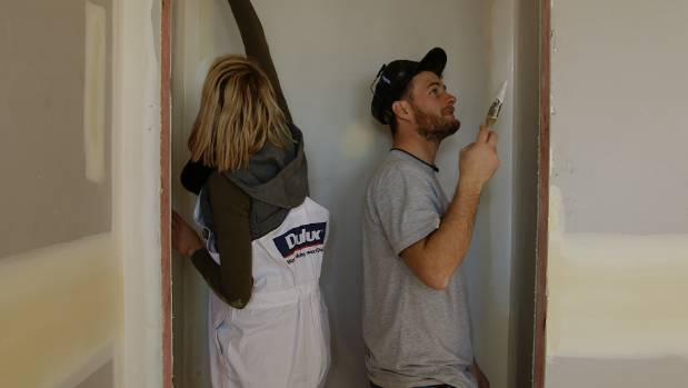 Cat and Jeremy's painting skills saw them take out the first week of the competition.