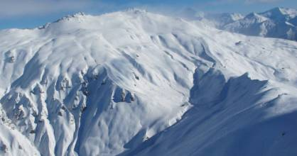 A size 2 avalanche was triggered in an out of bounds area near Treble Cone ski field by a group of four skiers on Sunday.
