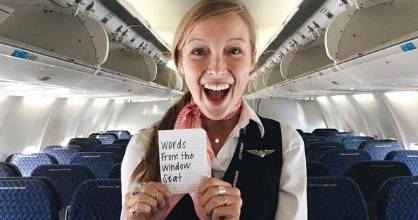 Taylor Tippett is the flight attendant making people smile.