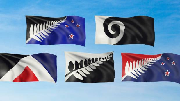 The five alternative designs to replace the current flag are put to the test in Wellington.