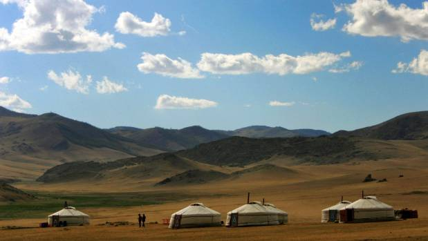 About one third of Mongolia's 2.8 million people are nomads living in traditional round felt tents called ger.