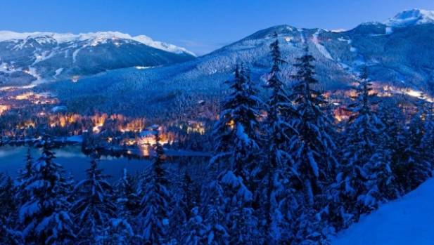 Whistler Blackcomb at dusk is a beautiful sight.