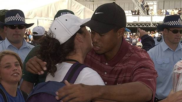 Steve Williams' partner Kirsty farewells Tiger Woods from New Zealand in 2002. In her husband's new book, she describes ...