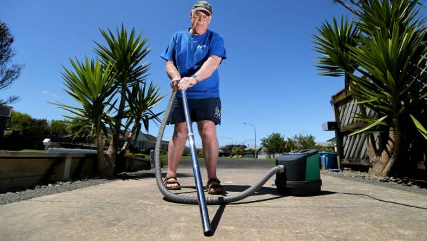 Don Openshaw is sick of gravel being thrown onto his driveway as the stones loosen in the increasing temperatures.